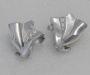 """Earrings in white gold with diamonds, model: """"Vannus""""."""