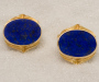 Cufflinks in yellow gold with lapis lazuli.