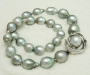 Tahitian South Sea pearl necklace with a white gold lock with South Sea pearl.
