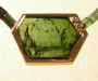 Pendant / lock in yellow gold with tourmaline. Necklace tourmaline crystal.