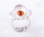"""Ring """"Viola"""" i sølv med mandarin granat"""