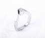 Ring i hvitt gull med brilliantslipt diamant