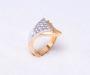 `Vivre` i gult og hvitt gull med 15 diamanter