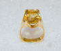 Ring in yellow gold with citrine quartz.