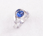 Ring in white gold with a Tanzanite and Diamond