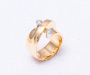 `Vridd` Ring in Yellow gold with 2 diamonds