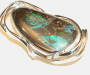 Ring in sterling silver with boulder opal.