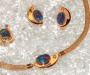 Yellow gold with triplet opal and diamond.