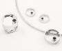 "Jewellery set i white gold ""Sirkel"" with black diamonds"